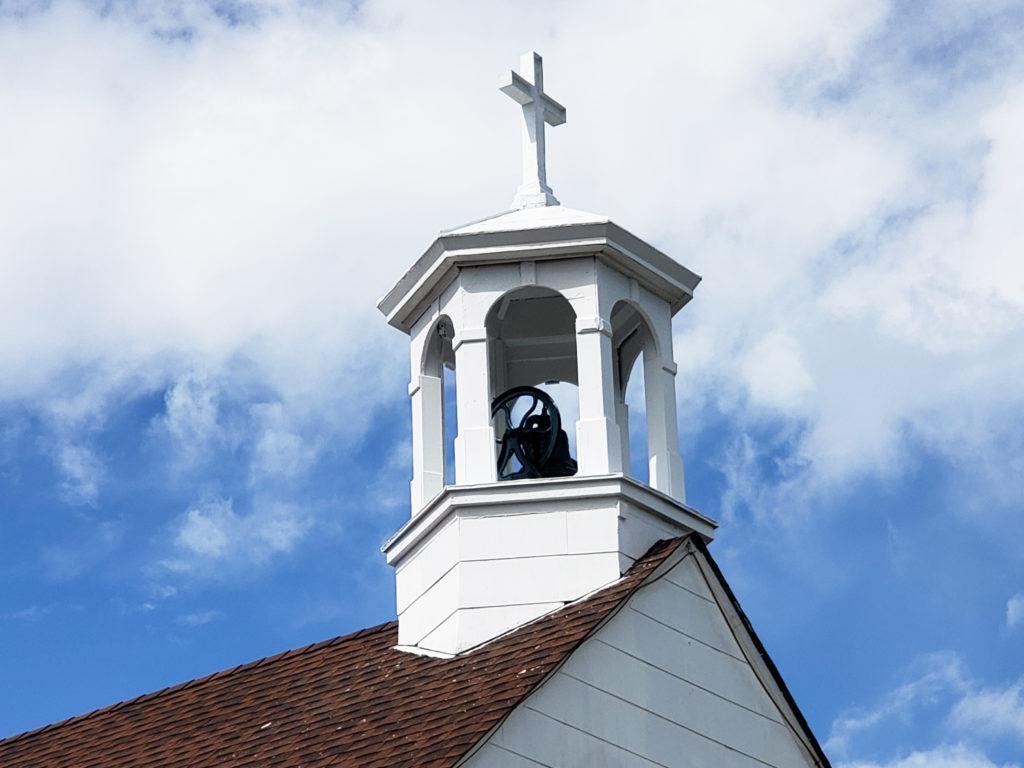 교회 종탑 보수